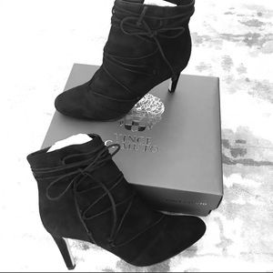 Vince camuto ankle boots lace up
